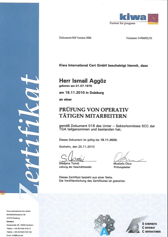 SCC* Zertifikat